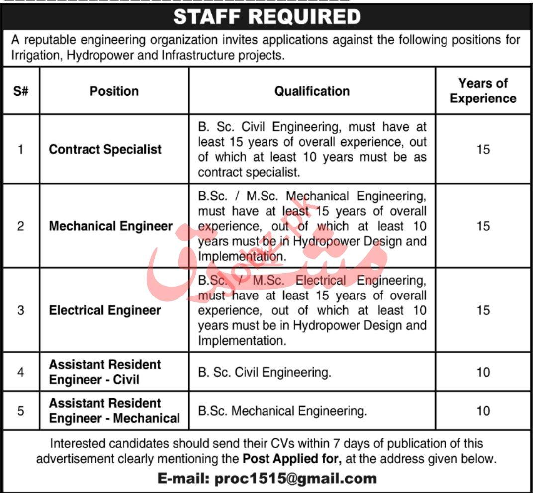 Contract Specialist & Mechanical Engineer Jobs 2020