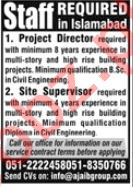 Project Director & Site Supervisor Jobs 2020 in Islamabad