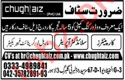 Granite Fabricator & Carpenter Jobs 2020 in Lahore