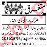 Delivery Rider & Rider Jobs 2021 in Peshawar