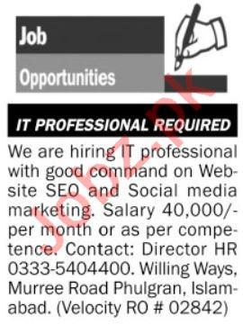 Social Media Marketing Expert & SEO Jobs 2021 in Islamabad
