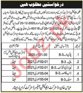 Education Department Kurram Parachinar Jobs 2021