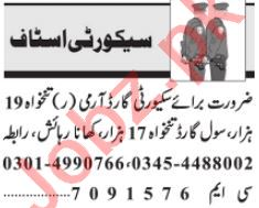 Security Guard & Security Supervisor Jobs 2021 in Lahore