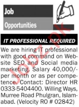 SEO Specialist & Web Developer Jobs 2020 in Islamabad