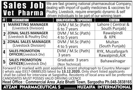 National Pharmaceutical Company Jobs 2020 For Sales Staff