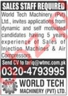 World Tech Machinery Jobs 2020 for Sales Staff