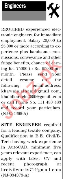 The News Sunday Classified Ads 6 Dec 2020 for Engineering