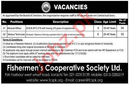 Fishermen Cooperative Housing Society Jobs Medical Officer