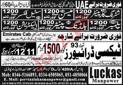 Taxi Driver & Building Painter Jobs 2020 in UAE