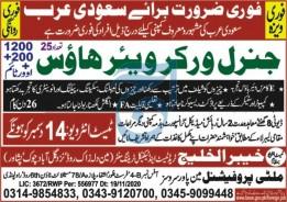 General Worker Warehouse Job 2020 in Saudi Arabia