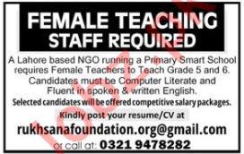Female Teaching Staff jobs in NGO