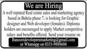 Real Estate Sales & Marketing Agency Jobs 2020