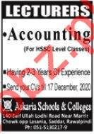 Accounting Lecturer Jobs in Askaria School & Colleges