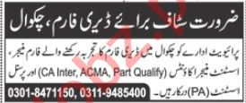 Farm Manager & Assistant Manager Accounts Jobs 2020