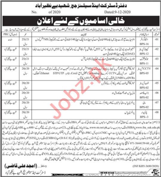 District & Session Court Nawabshah Jobs 2021 for Clerk