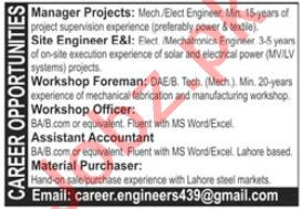 Manager Projects & Workshop Foreman Jobs 2020