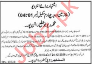 Revenue & Finance Department Rajanpur Jobs Interview 2021