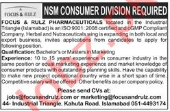 National Sales Manager Jobs in Focus & Rulz Pharmaceuticals