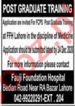Fauji Foundation Hospital FFH Lahore Jobs 2020 for Doctor