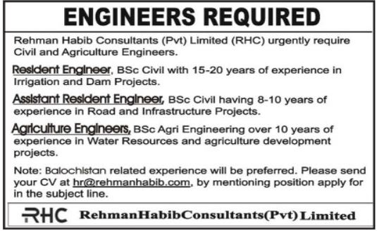 Engineering Staff Jobs 2020 in Quetta Balochistan