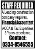 Financial Accountant Job 2020 in Islamabad