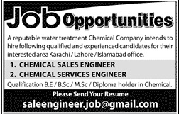 Water Treatment Chemical Company Jobs 2020