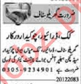 Dunya Sunday Classified Ads 20 Dec 2020 for House Staff
