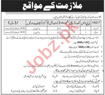 Pakistan Army 10 Sindh Regiment Lahore Jobs 2021