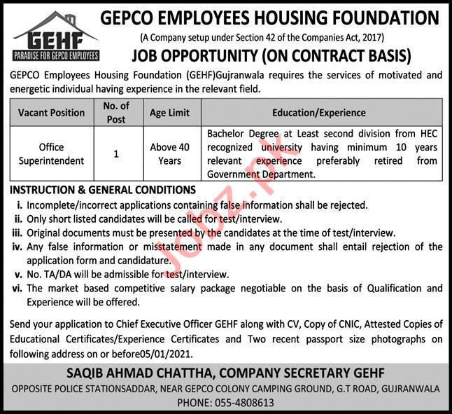 GEPCO Employees Housing Foundation GEHF 2021