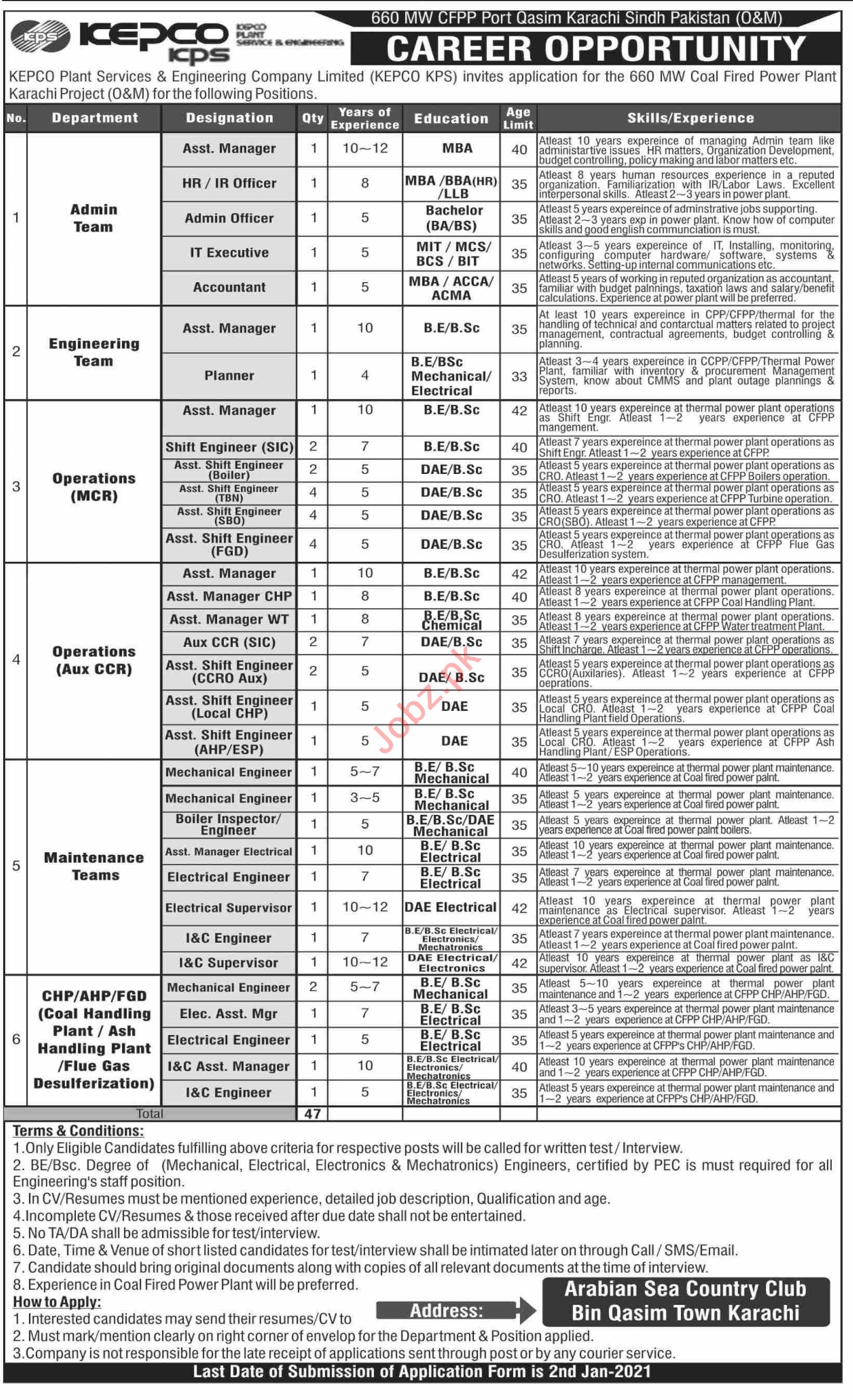 KEPCO Plant Services & Engineering Company Jobs 2021