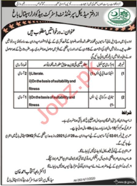 District Headquarter Hospital DHQ Bagh Jobs 2021