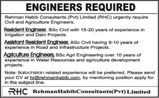 Engineering Staff Jobs 2021 in Lahore & Quetta