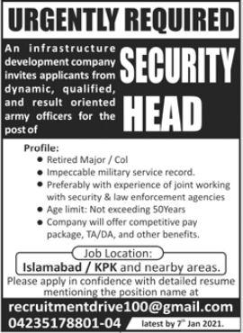 Infrastructure Development Company Jobs 2021 in Islamabad