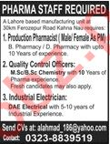 Production Pharmacist & Industrial Electrician Jobs 2020