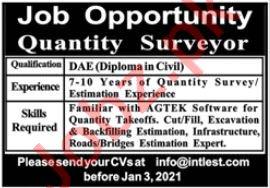 Quantity Surveyor Surveyor Jobs 2021 In Lahore 2021 Job Advertisement Pakistan