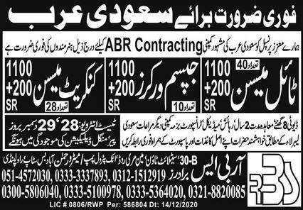 RBS Brothers Recruiting Agency Jobs 2021 in KSA