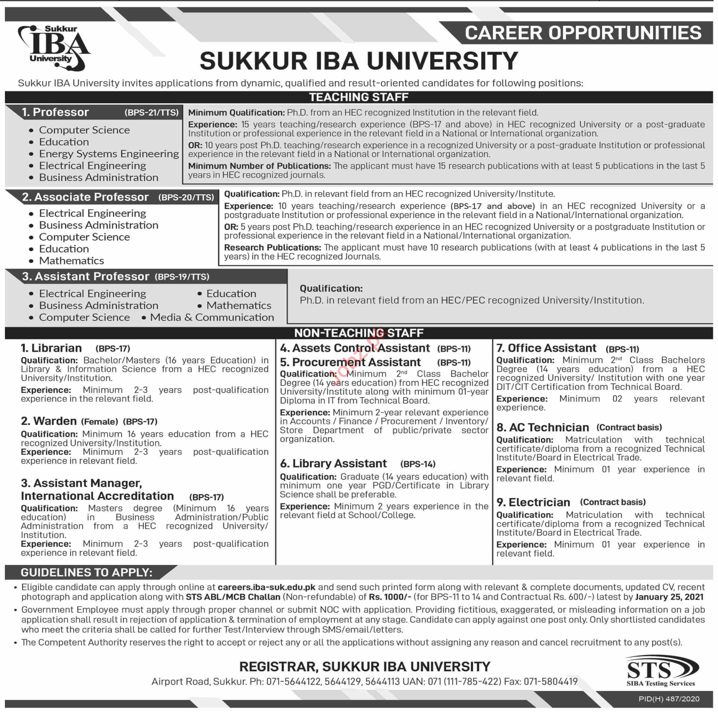 Sindh Public Service Commission SPSC Jobs January 2021