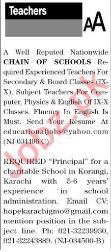 The News Sunday Classified Ads 27 Dec 2020 for Teachers