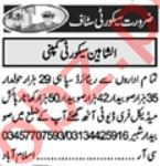 Security Incharge & Lady Security Guard Jobs 2021