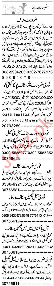 Packing Worker & Electrician Jobs 2021 in Rahim Yar Khan