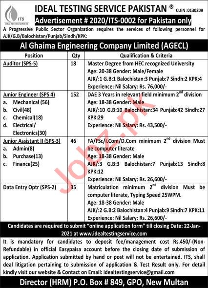Ideal Testing Service Pakistan ITS Multan Jobs 2021 Engineer