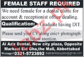 Al Aziz Dental Clinic Abbottabad Jobs 2021 for Accountant