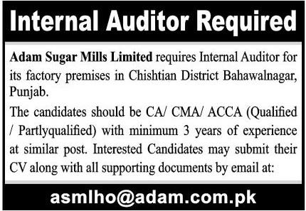 Adam Sugar Mills Limited Jobs 2021