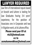 International Law Firm Job 2021 in Karachi & Lahore