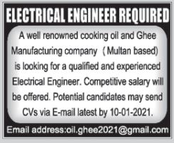 Oil & Ghee Manufacturing Company Jobs 2021