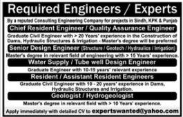 Engineers & Experts Jobs 2021 in Lahore