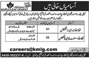 Maple Leaf Cement Factory Limited Jobs 2021 in Mianwali