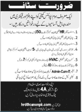 Home Appliances Company Jobs 2021 in Islamabad