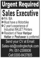 Coding Technologies Jobs 2021 For Sales Executive