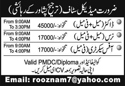 Medical Staff Jobs 2021 in Peshawar